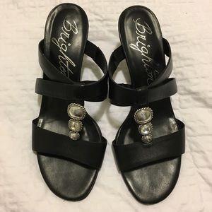 """BRIGHTON Sandals  Size 8 1/2 M  heel 2 1/2"""""""